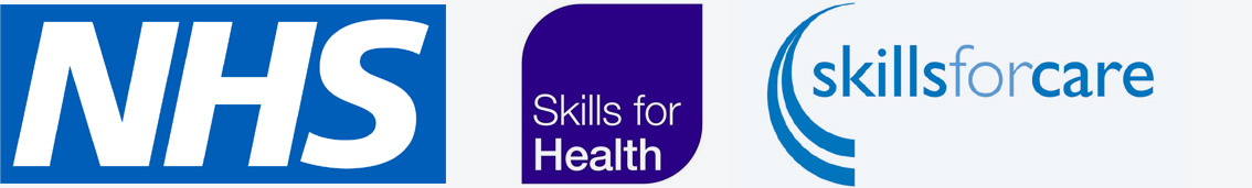 MSP Training Scheme Logos for NHS, Skills for Health and Skills for Care